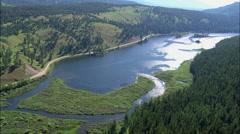 Seeley Swan-Corridor At Salmon Lake Stock Footage