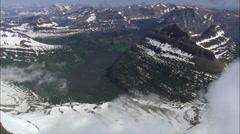 Looking Into Glacier' Park Valleys Stock Footage