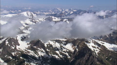 Above The Clouds In Glacier Park Stock Footage
