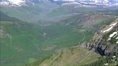 The 'Loop' In Going To The Sun Road Stock Footage