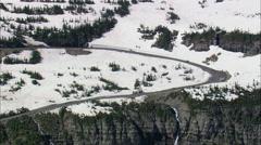 Logan Pass To Siyeh Bend Stock Footage