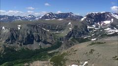 Mountains Around Two Medicine Lake Stock Footage