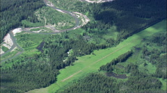 Middle Fork Flathead River And Usfs Airstrip Stock Footage