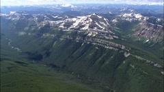 Escarpment Overlooking Dolly Varden Creek Stock Footage