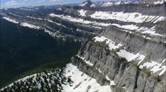 Escarpment On Continental Divide Stock Footage
