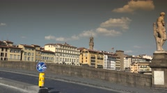 ULTRA HD 4k, Ponte Vecchio and Old Bridge in sunny day in Florence - stock footage