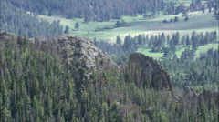 Crossing Small Mountain Range Stock Footage