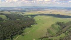 Plain Between Big Belt And Castle Mountains Stock Footage