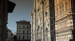ULTRA HD 4k,  Cathedral of Santa Maria del Fiore in Tuscany - stock footage