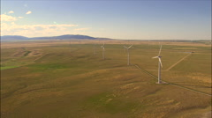 Wind Turbines Near Harlowton Stock Footage