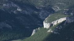 Limestone Escarpments In Little Belt Mts. Stock Footage
