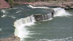 Rainbow Dam And Falls Stock Footage