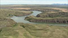 Over Morony Dam Stock Footage