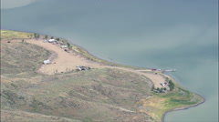 Western End Of Fort Peck Lake Stock Footage