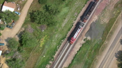 Goods Train Approaching Glasgow Stock Footage