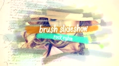 Brush Slideshow Stock After Effects