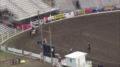 Getting Ready For The Rodeo Stock Footage