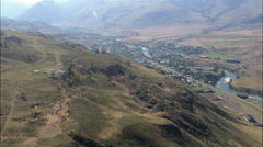Gardiner aerial Stock Footage