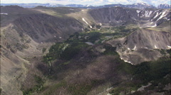Above Valleys In Custer National Forest Stock Footage