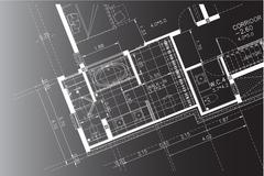 Interior Architectural background, architecture plan, construction drawing Stock Illustration