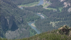 Plateau Above Clarks Fork Yellowstone River Stock Footage