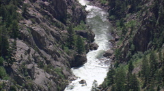 Canyon Formed By Clarks Fork Yellowstone River Stock Footage
