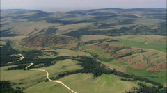 East Side Of Pryor Mountains Stock Footage