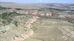 Approaching Bighorn Canyon National Re. Area Stock Footage