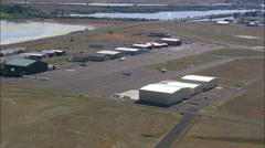 Landing At Cody Airport Stock Footage