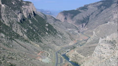 Shoshone Canyon Stock Footage