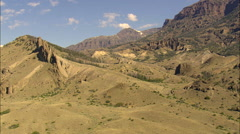 Rugged Landscape Either Side Of The North Fork Shoshone River Stock Footage