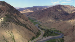 Mountains Overlooking Shoshone River Stock Footage