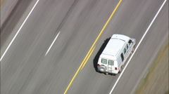 Camper Van On Route 20 By Shoshone River Stock Footage