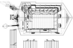 Architectural background, architecture plan, construction drawing Piirros