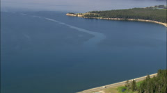 Yellowstone Lake From The East Stock Footage