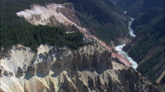 Lookout Points Over Grand Canyon Of The Yellowstone Stock Footage