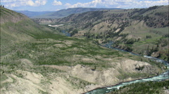 Yellowstone River In Canyon Stock Footage