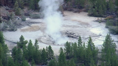 Norris Geyser Basin Stock Footage