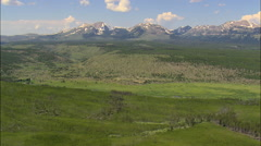 Looking Towards The Gallatin Range Stock Footage