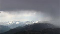 Rain Storm Over The Absaroka Range Stock Footage