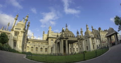 Time lapse view of the Brighton Royal pavilion - stock footage