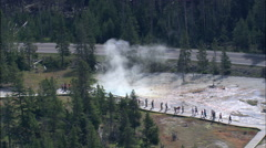 Lower Geyser Basin Stock Footage