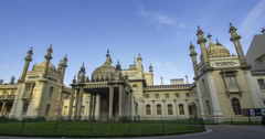 Time lapse view of the Brighton Royal pavilion Stock Footage