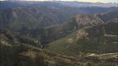 Leaving The Absaroka Range Down Wood River Valley Stock Footage