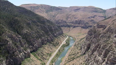Big Horn Canyon North End Stock Footage