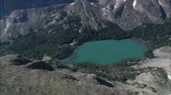 Small And Large Lakes In Wind River Mountains Stock Footage