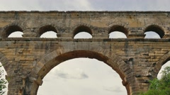 French Monument Pont Du Gard Roman Aqueduct In Southern France Stock Footage
