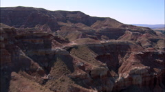 Red Rocky Crags And Valleys Stock Footage