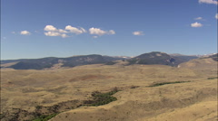 Shoshone National Forest With Wind River Mountains In Background Stock Footage