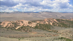 South Edge Of Shoshone National Forest Stock Footage
